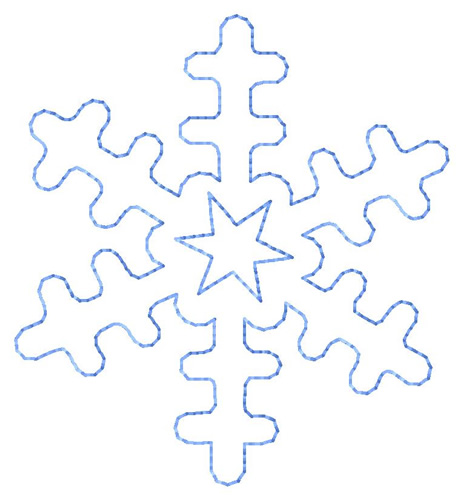 Snowflake Outline - ClipArt Best
