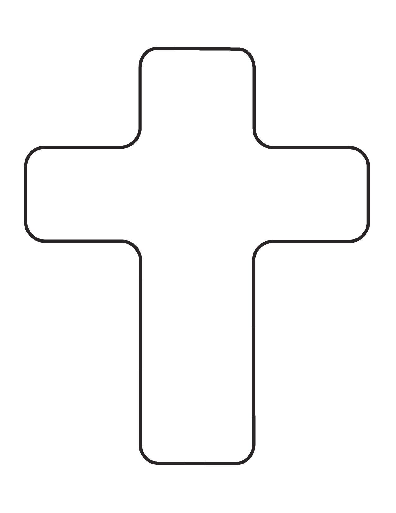 Cross Outline Clipart - ClipArt Best