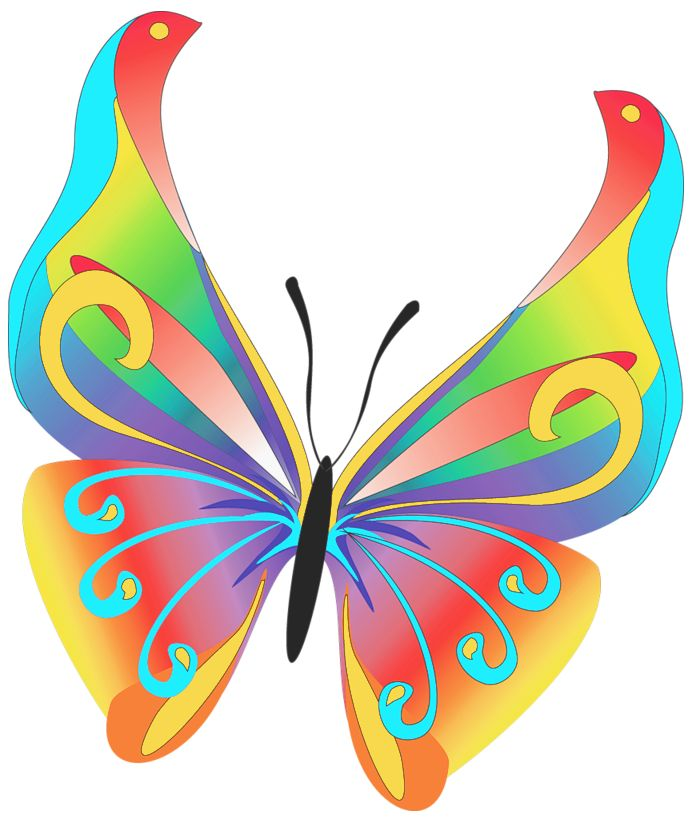 Painted Butterfly Wings Clipart Outline - ClipArt Best