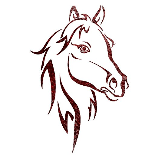 Amazon.com: J BOUTIQUE STENCILS Horse Head Animal wall stencils ...