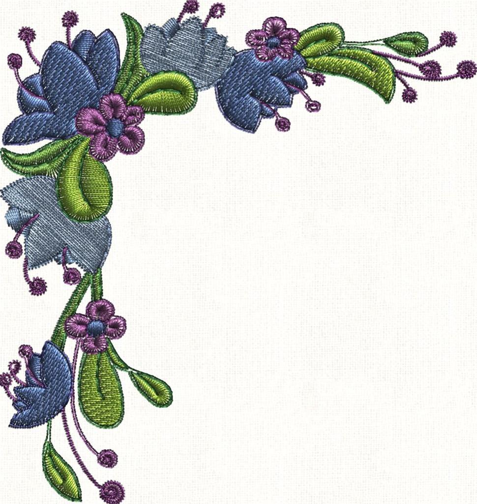 Flower Page Border Corner - ClipArt Best