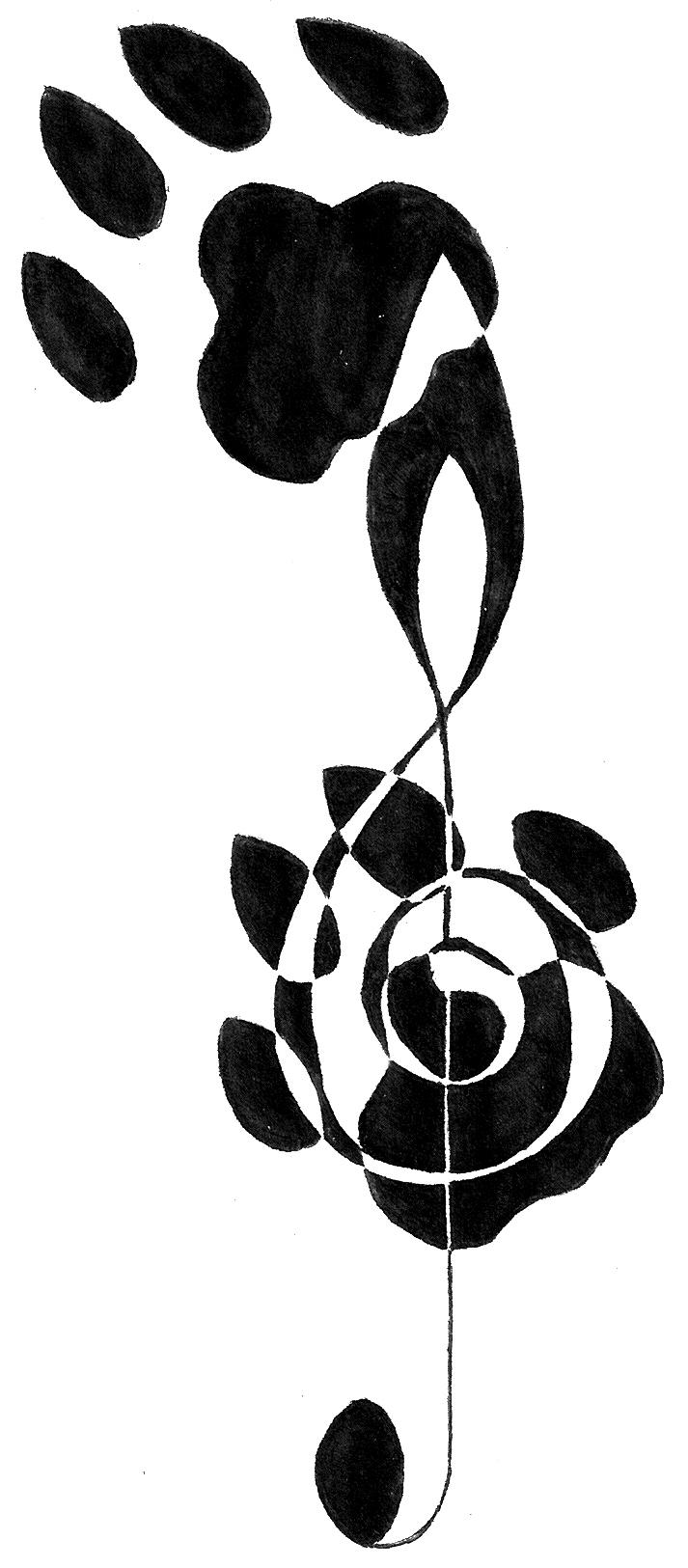 bass clef treble clef tattoo clipart best. Black Bedroom Furniture Sets. Home Design Ideas