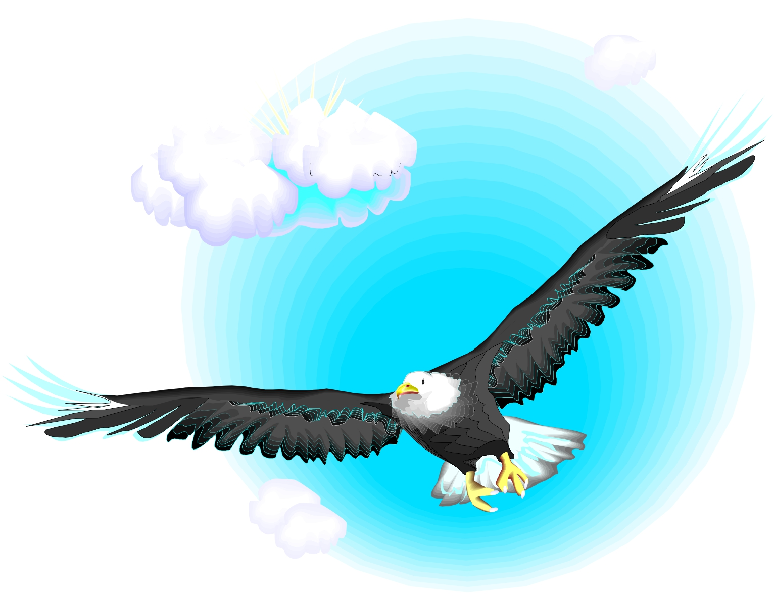 Cartoon Eagle Flying - ClipArt Best