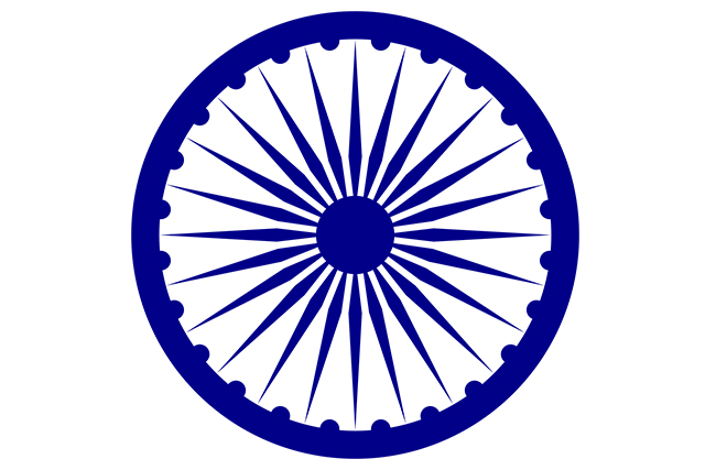 Indian Flag With Different Views: Ashoka Chakram Hd Images