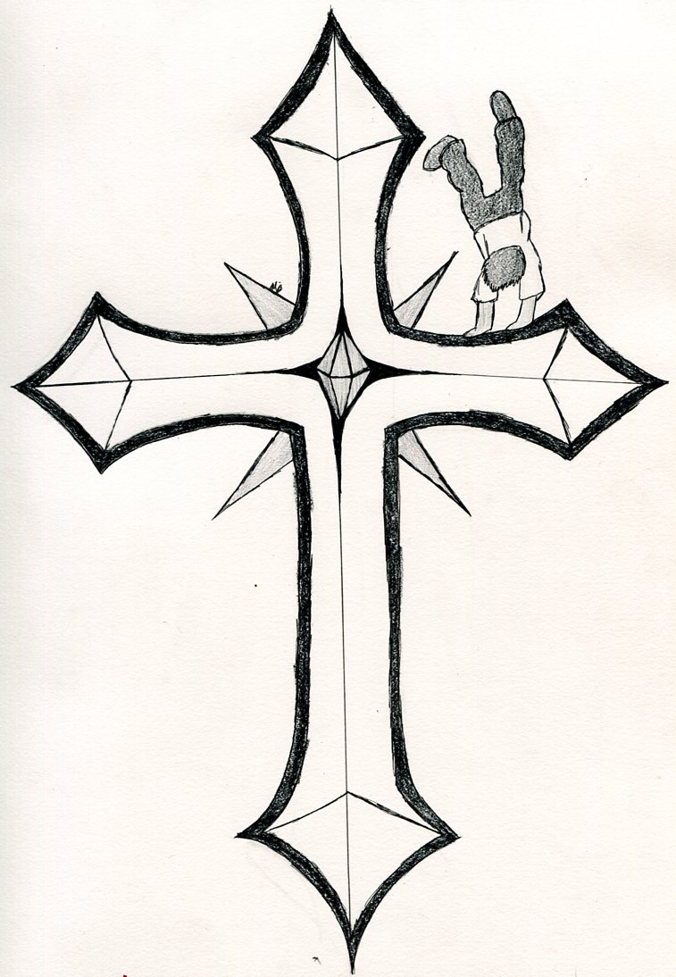 Drawing Of Crosses - ClipArt Best