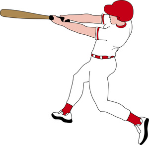 Baseball player images clip art