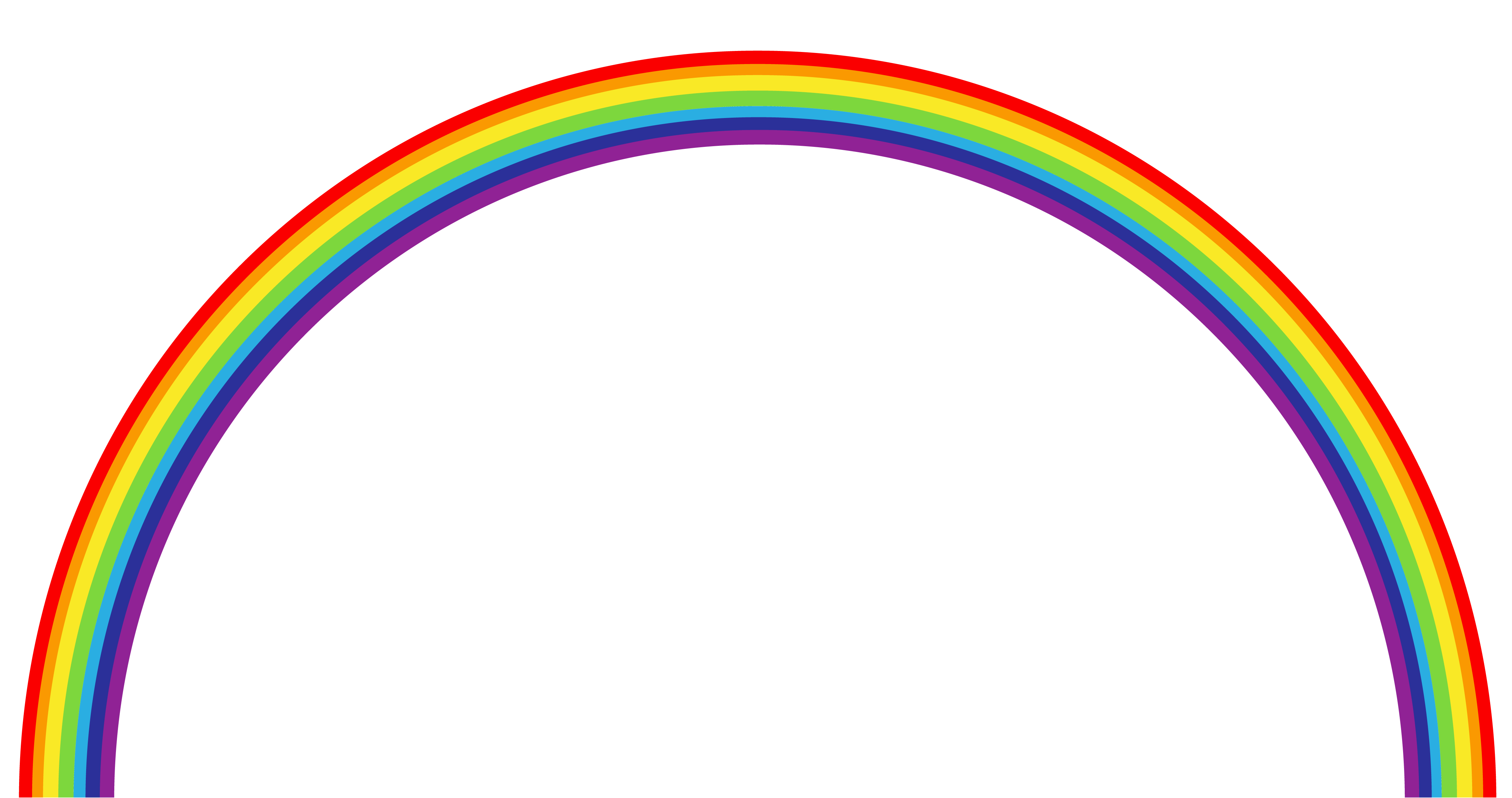 Rainbow png clipart best for Transparent top design