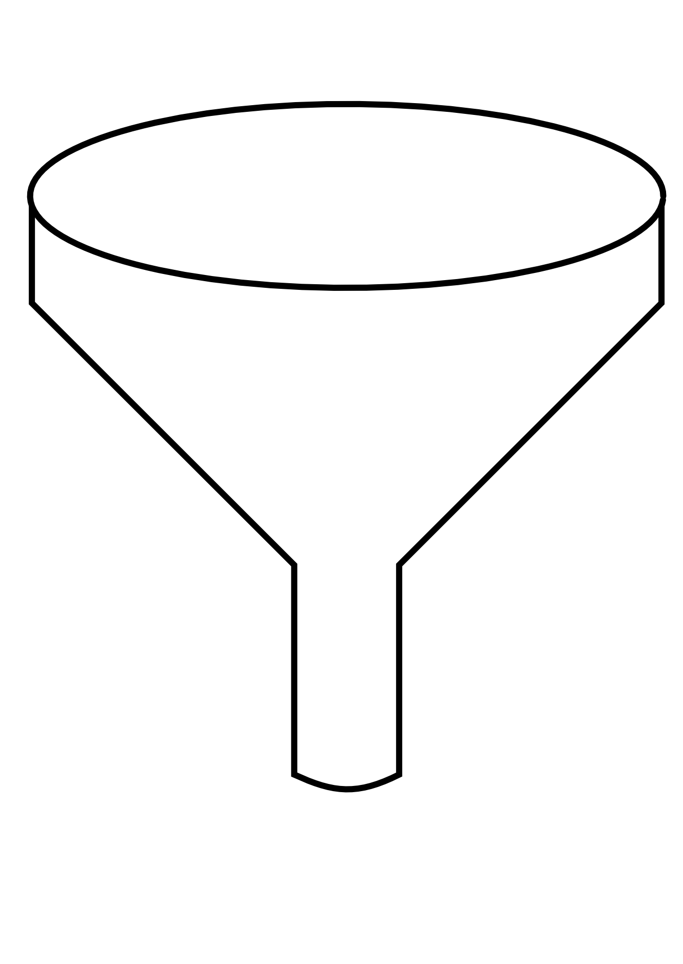 Line Art Svg : Food green funnel black white line art scalable vector