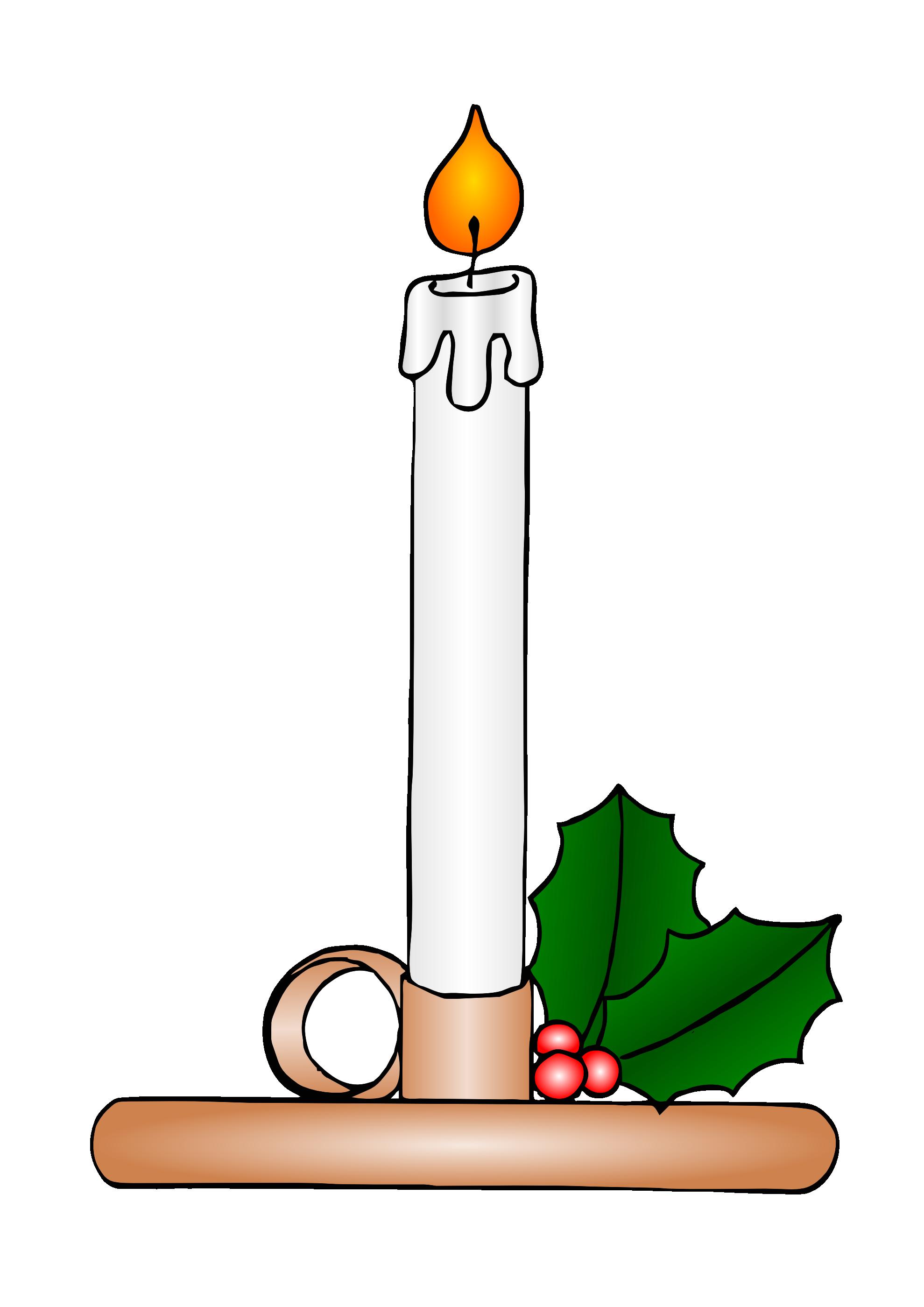 Clip Art: gustavorezende christmas candle ... - ClipArt ...