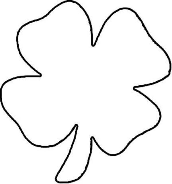 Four Leaf Clover Printables Clipart Best Three Leaf Clover Coloring Page