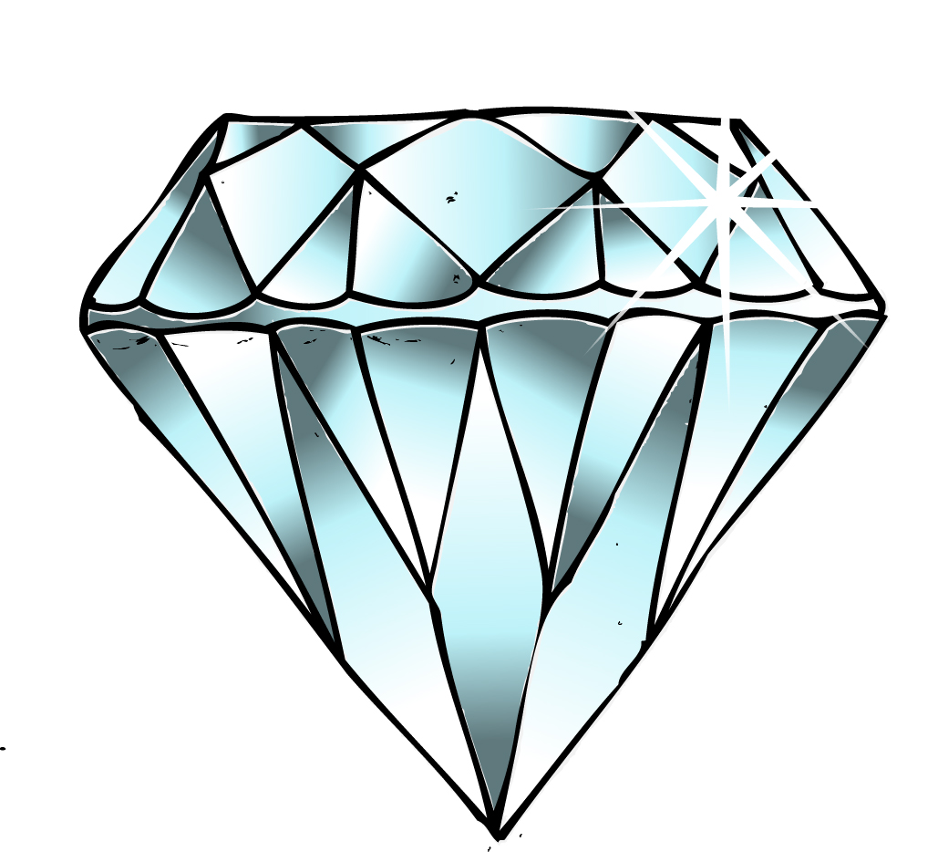 Diamond Emoji Drawing