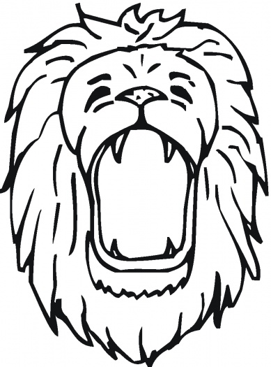 free roaring lion coloring pages - photo#30