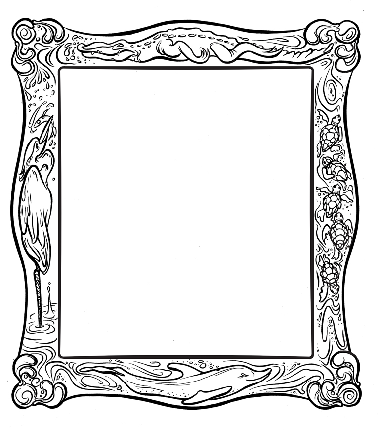 wide frame coloring pages christmas - photo#34