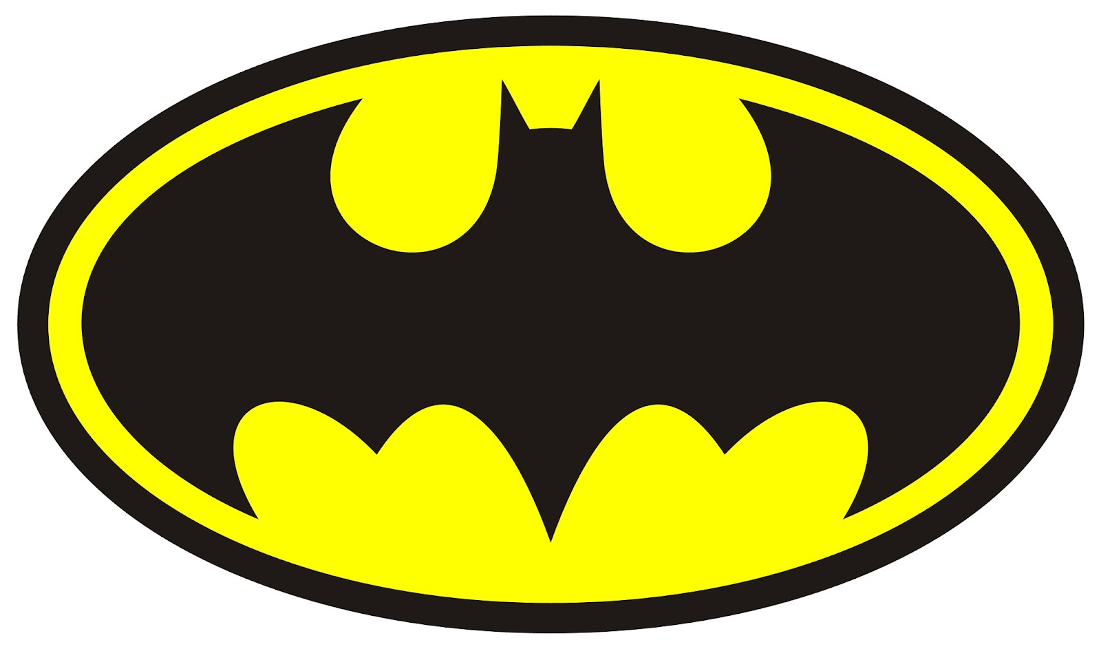 Adaptable image throughout batman symbol printable