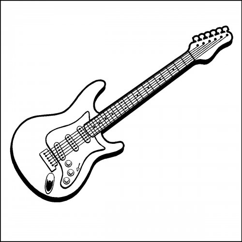 Guitar Drawing Electric guitar wall decal art