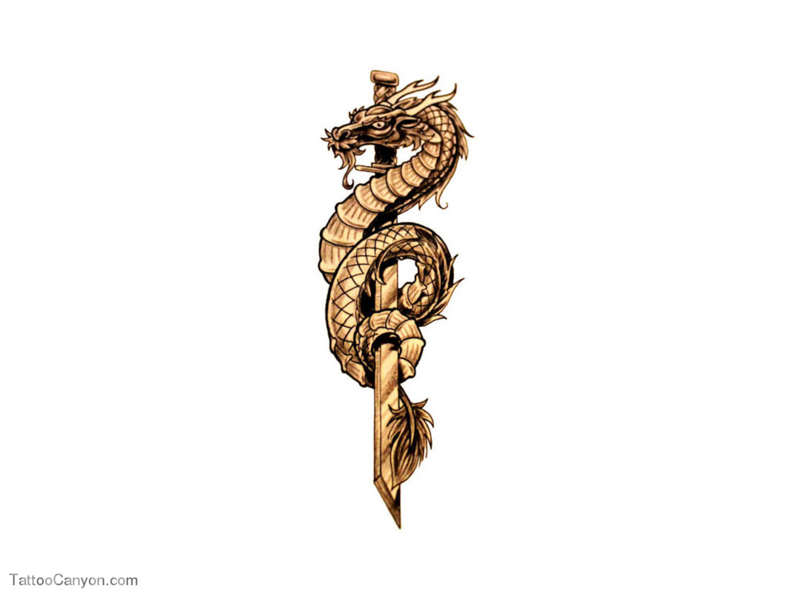 Змея на клинке тату
