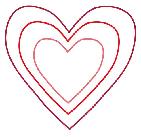 Heart Shape Template Heart shape template