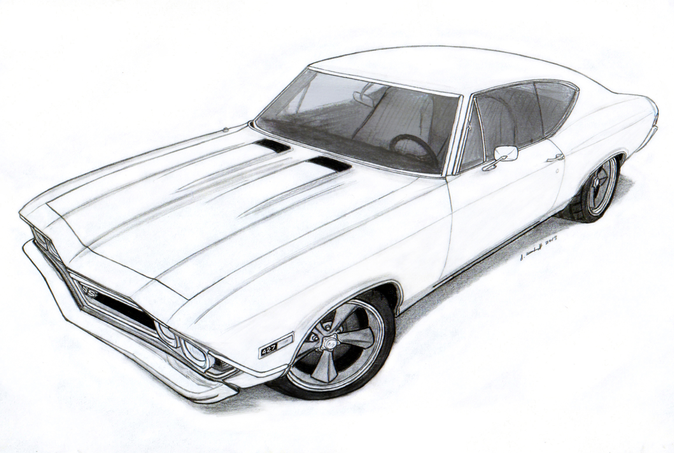 muscle cars coloring pages drawings - photo#32