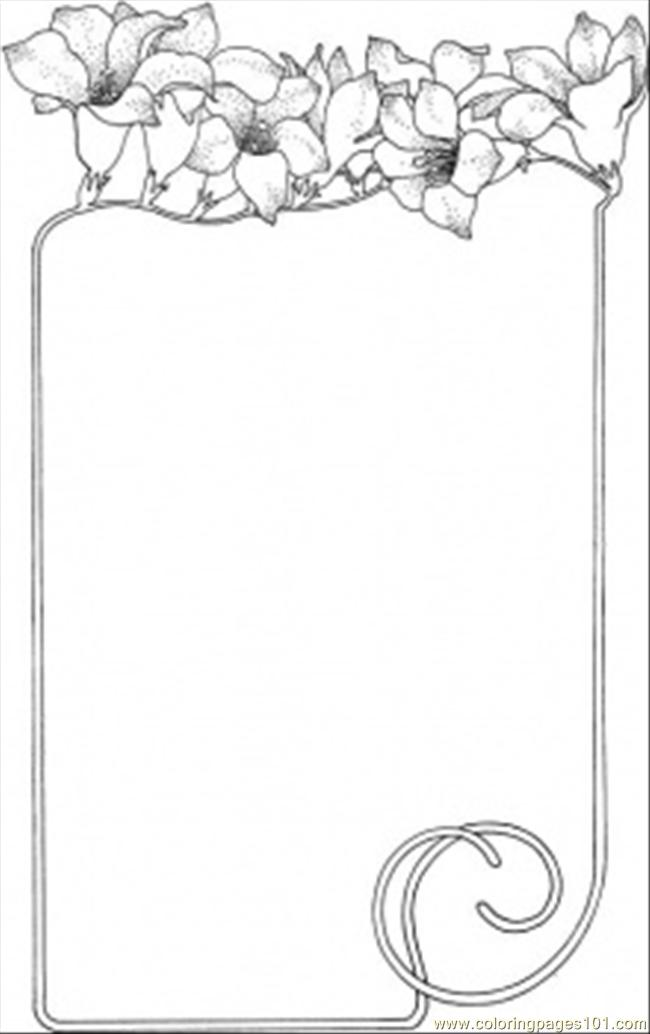 coloring pages flower borders - photo#15