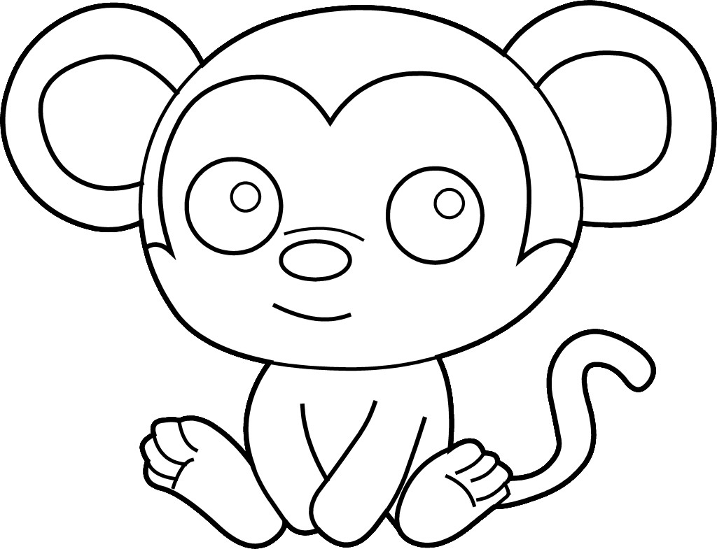 Monkey Clipart Free Clipart Best Clip Coloring Pages