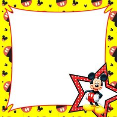 Mickey Mouse Page Border - ClipArt Best