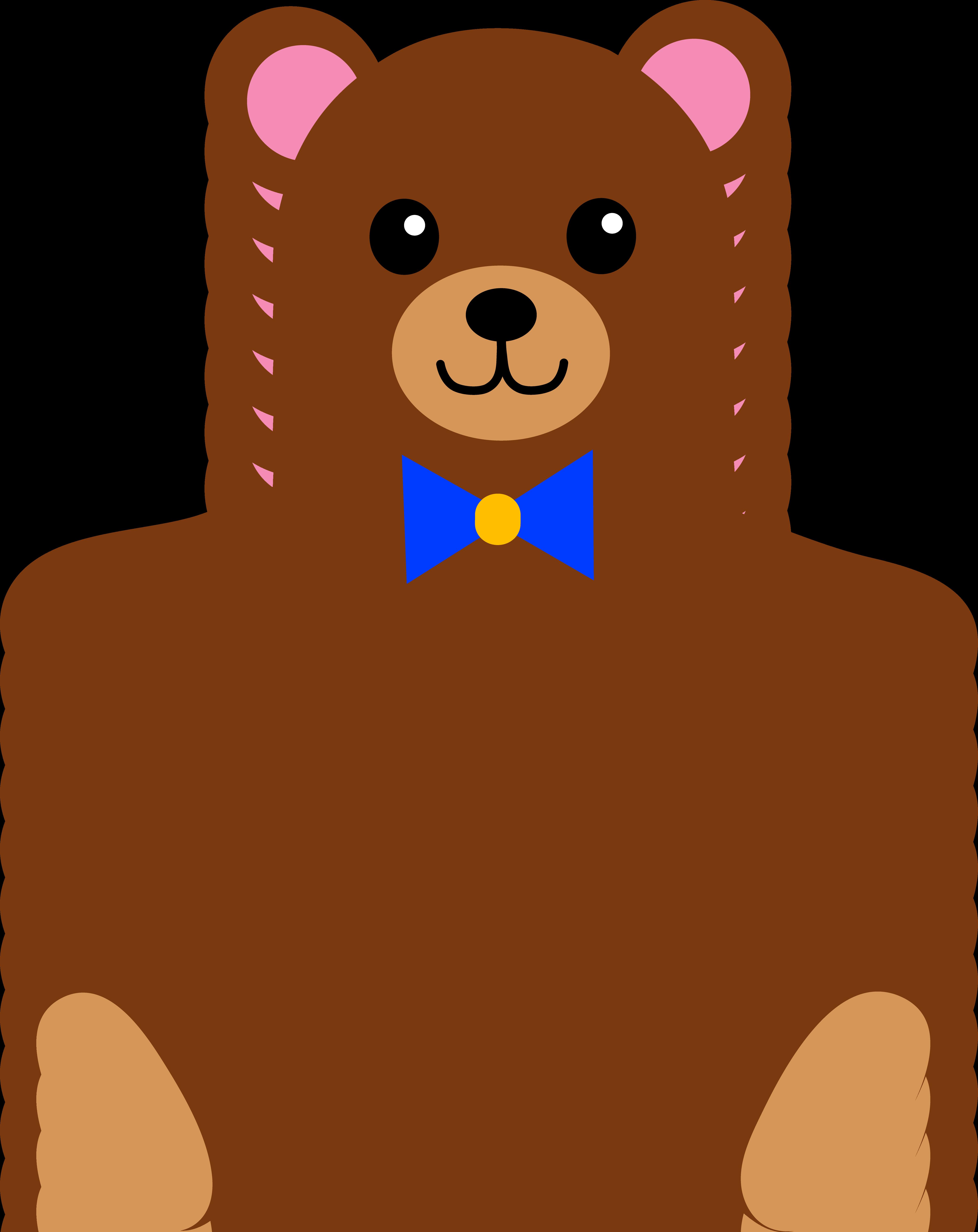 Cartoon Teddy Bears With Hearts Goldilocks puppets mama bear