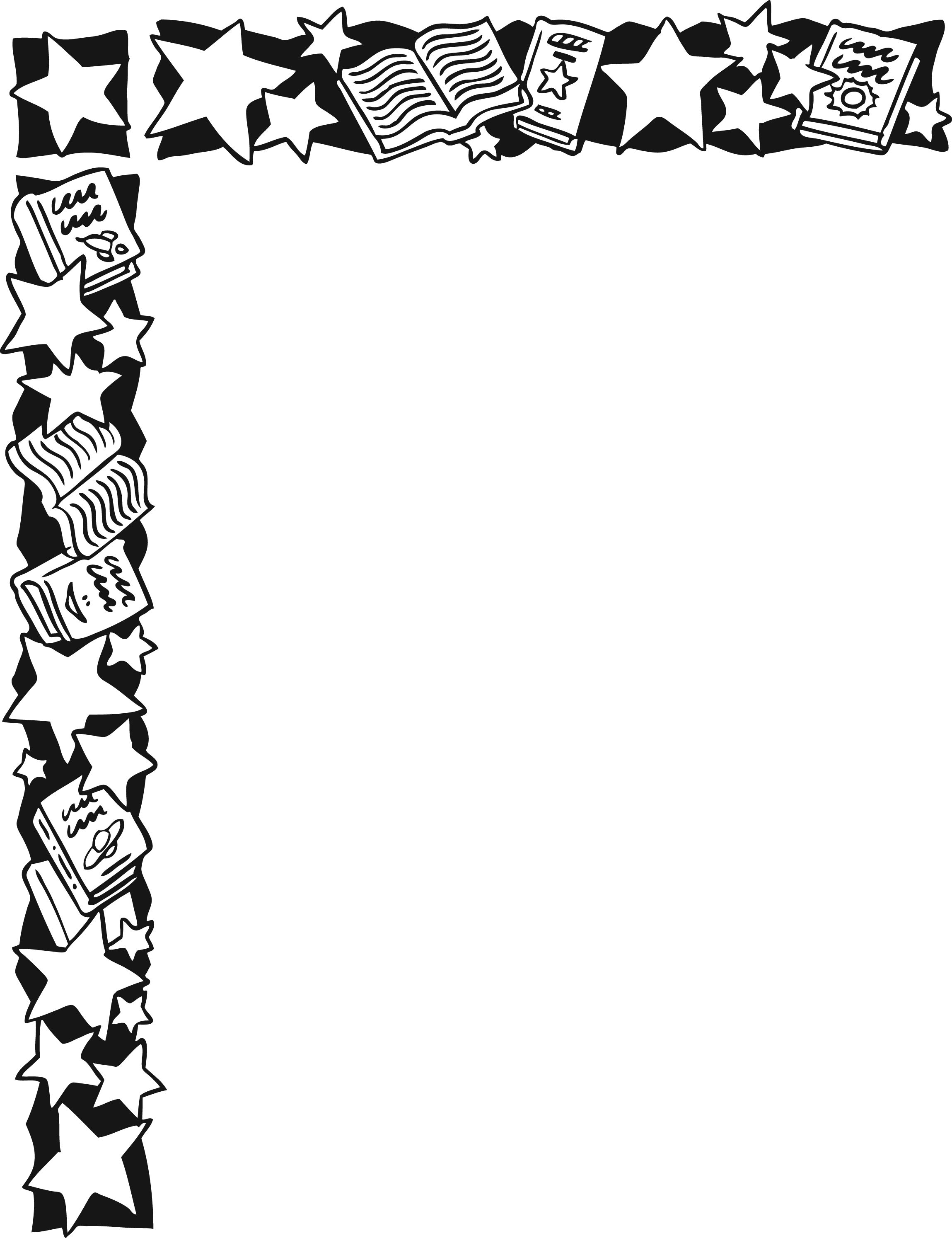 Black And White Star Border Clip Art | www.imgkid.com ...