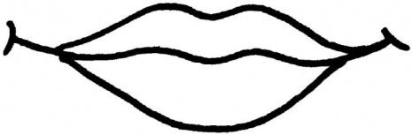 Улыбка губы раскраска