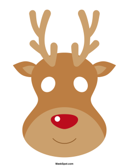 Ridiculous image with printable reindeer face