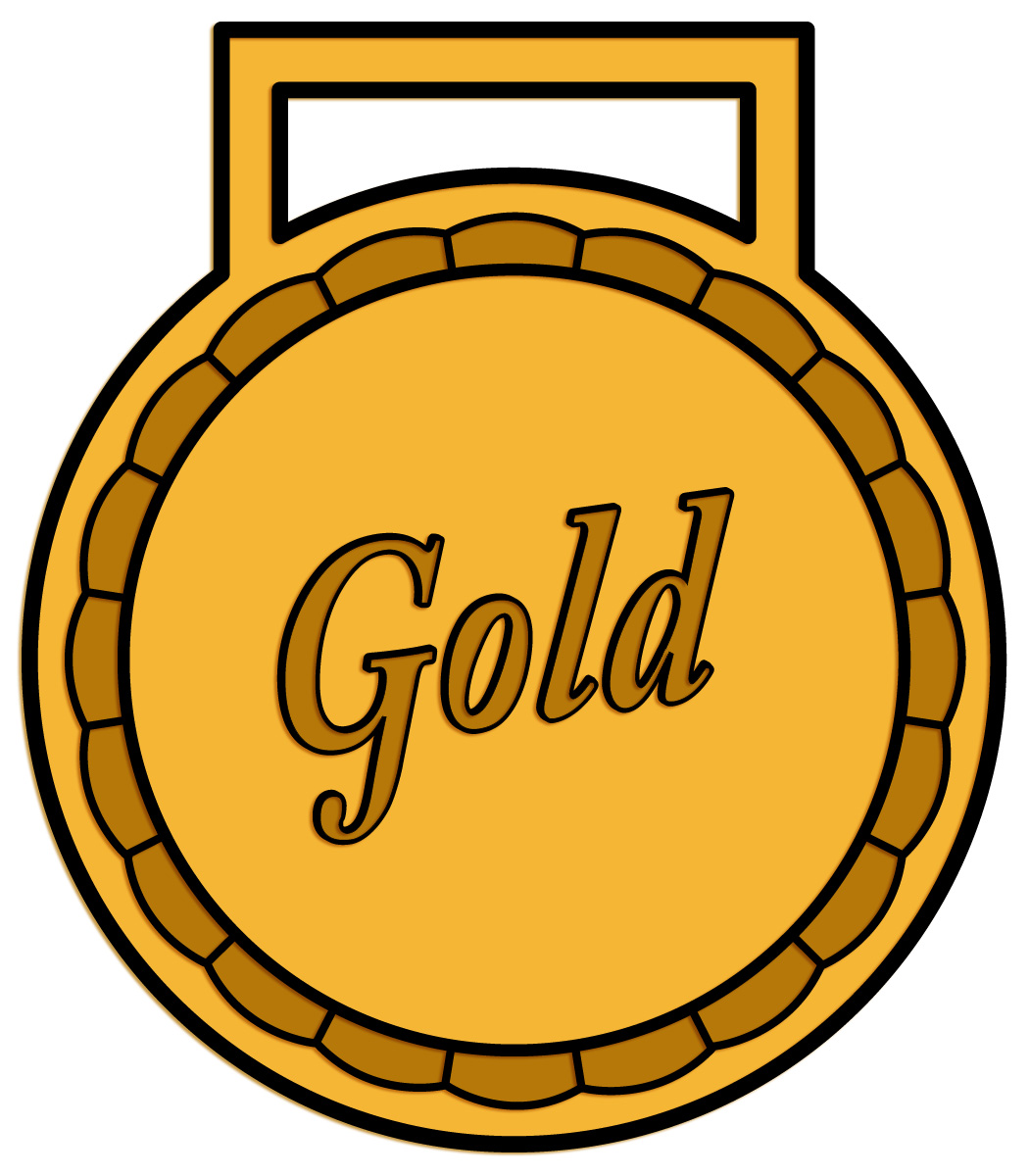 Gold Star Medal Clipart Gold star meda.