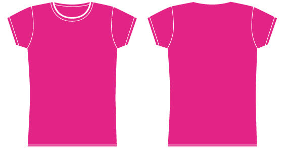 Blank Pink T-shirt - ClipArt Best