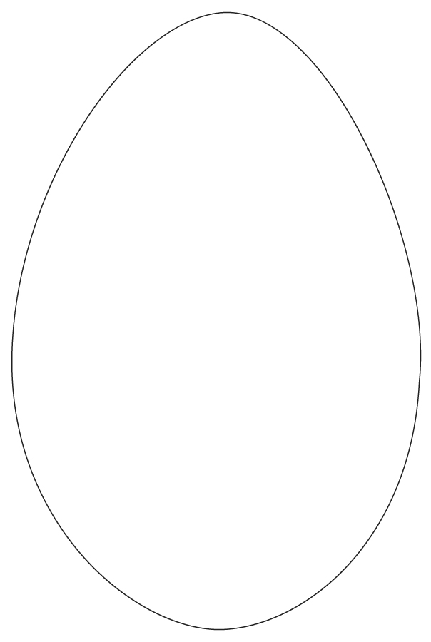 Easter Egg Shapes Template - ClipArt Best