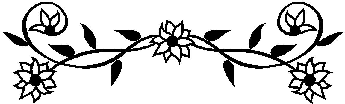 Black And White Flower Border Clipart - Free ...