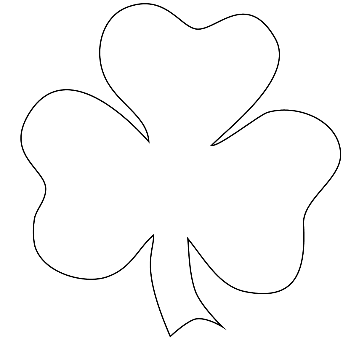 Simplicity image for printable shamrocks templates
