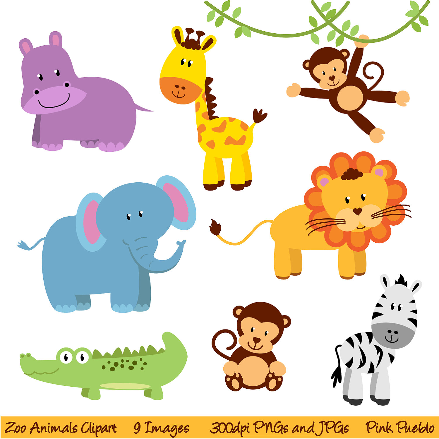 baby jungle animals clipart best. Black Bedroom Furniture Sets. Home Design Ideas
