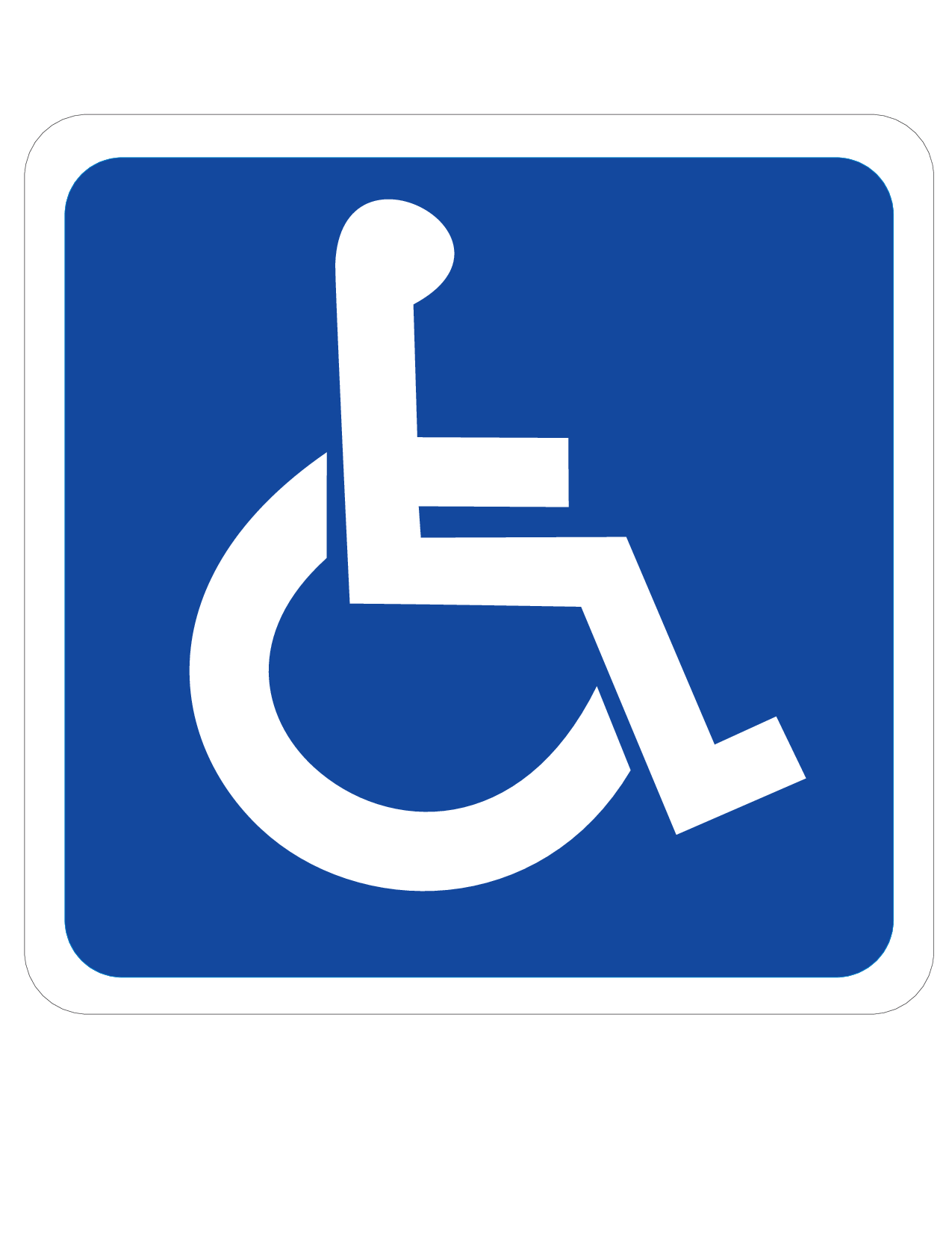Printable handicap sign clipart best Handicapped wheelchair