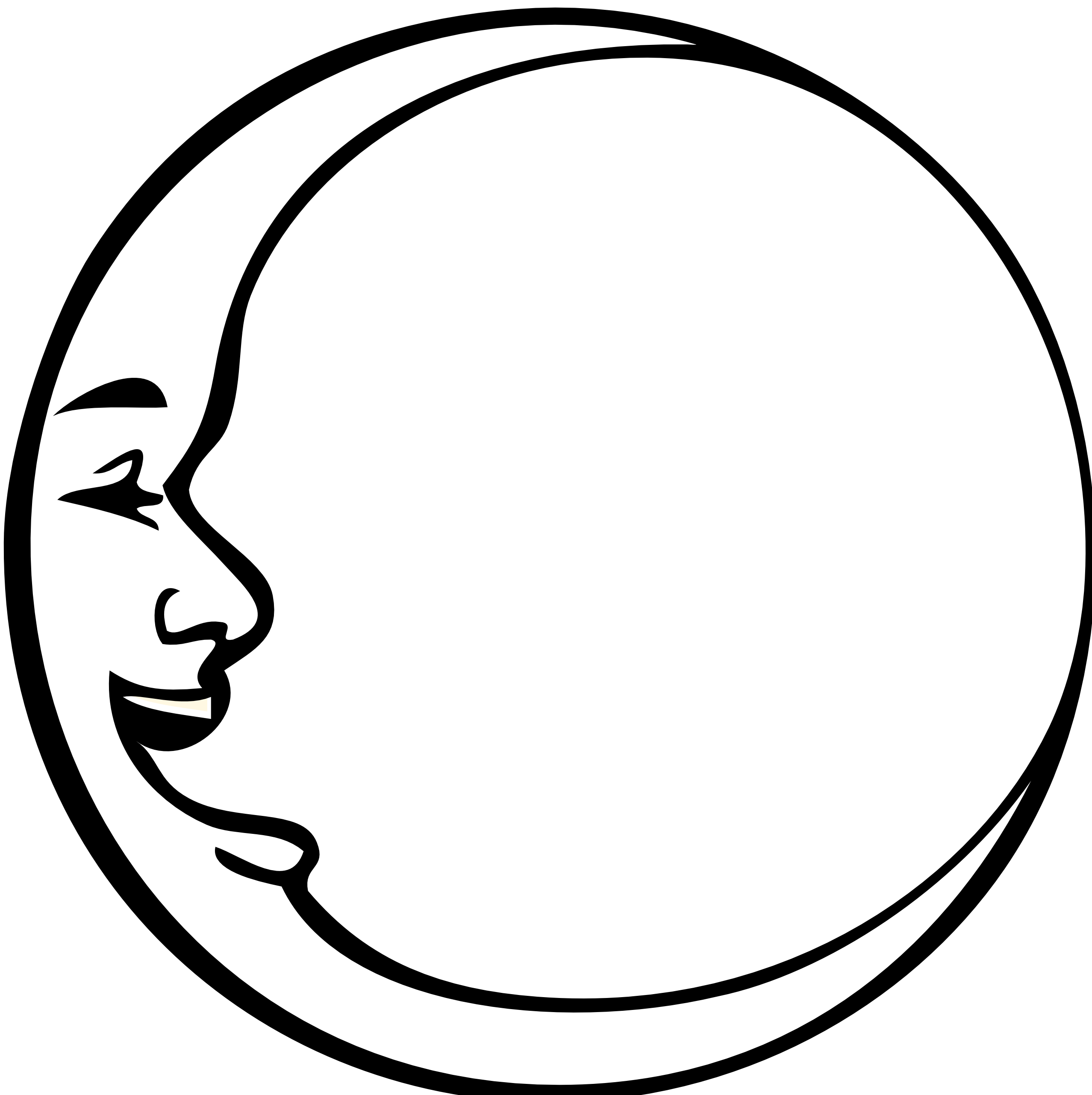 Outline The Moon - ClipArt Best