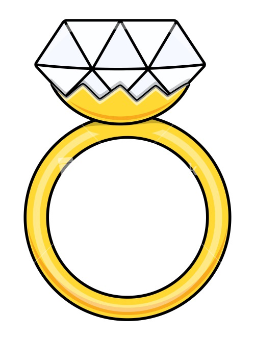 Coloring Page Wedding Rings
