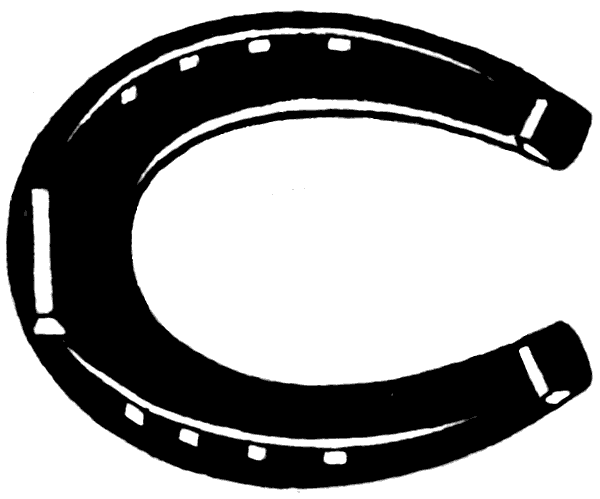 Horse Shoe Clipart Black And White - Free Clipart ...