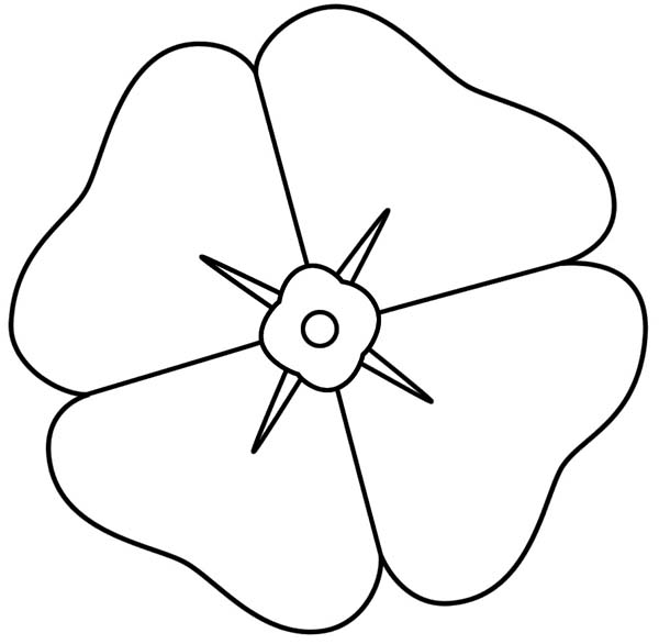 How to draw a poppy clipart best for Poppy coloring page