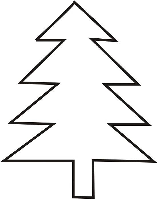 Christmas Tree Outline Printable Template Clip Art Images