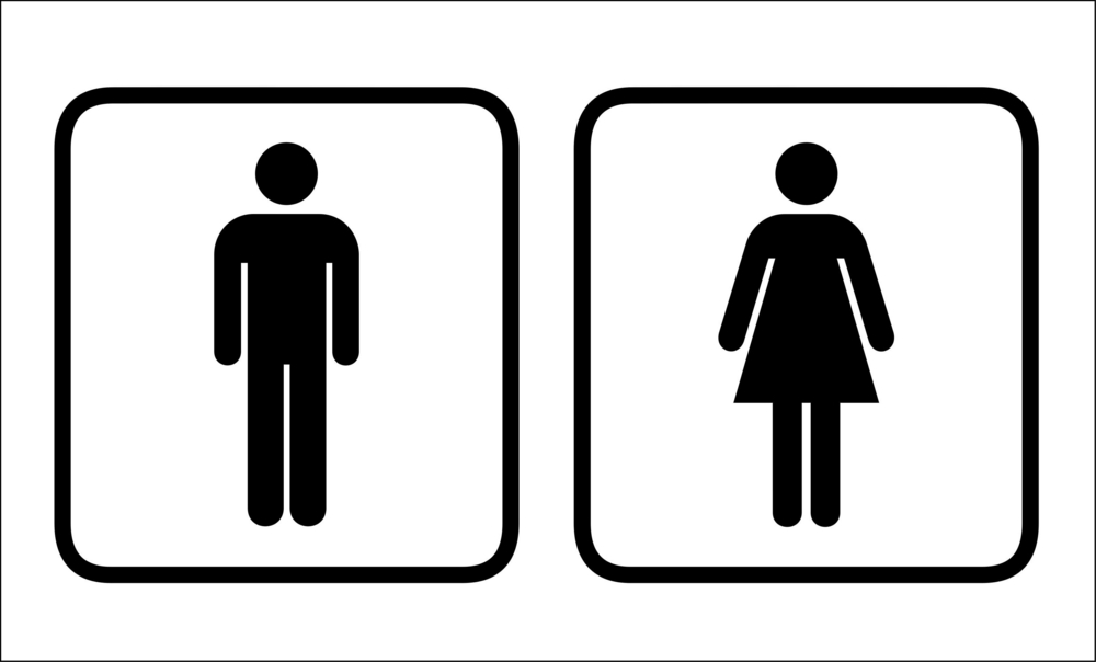 Women in mens bathroom