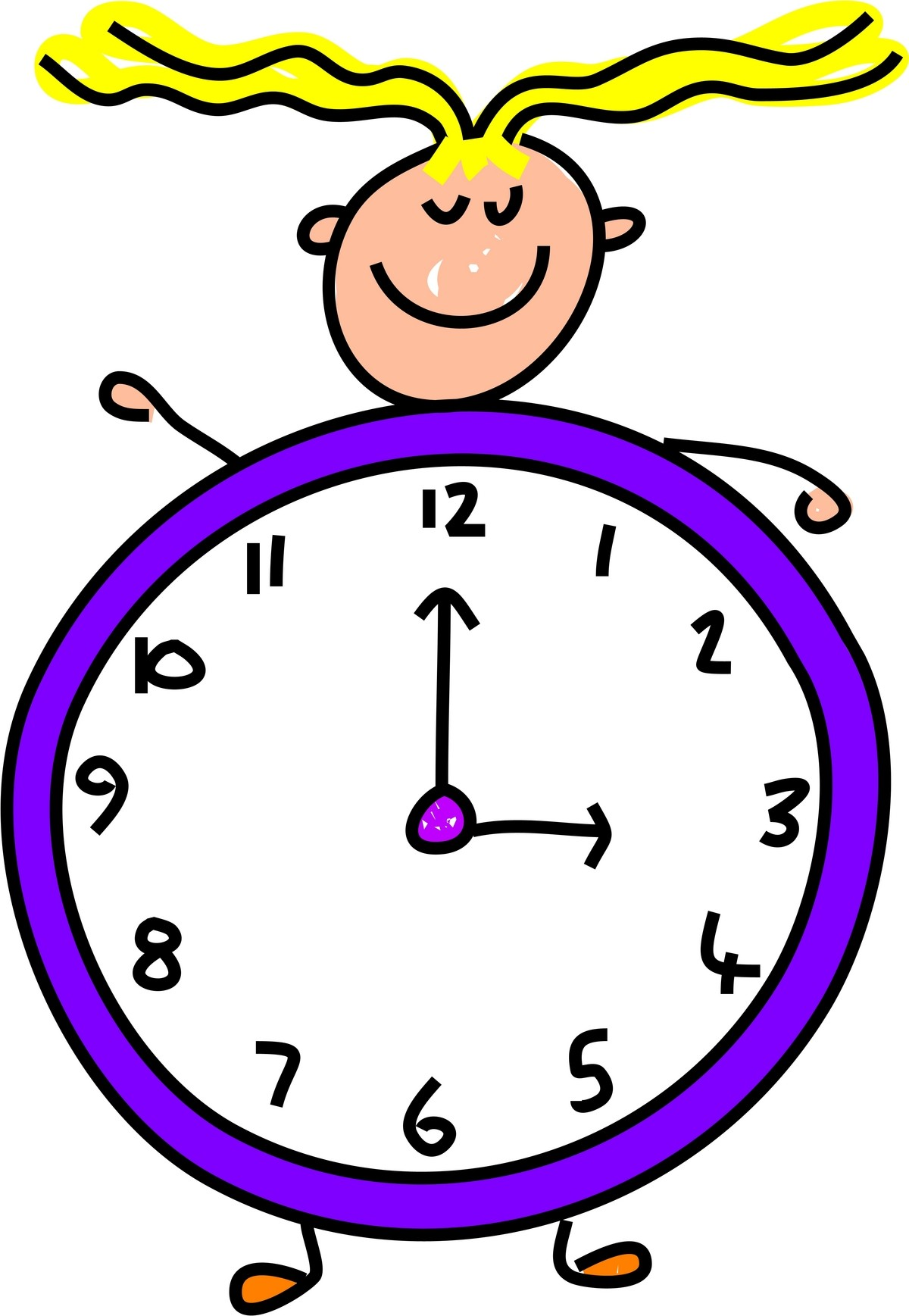 Free clipart time clock