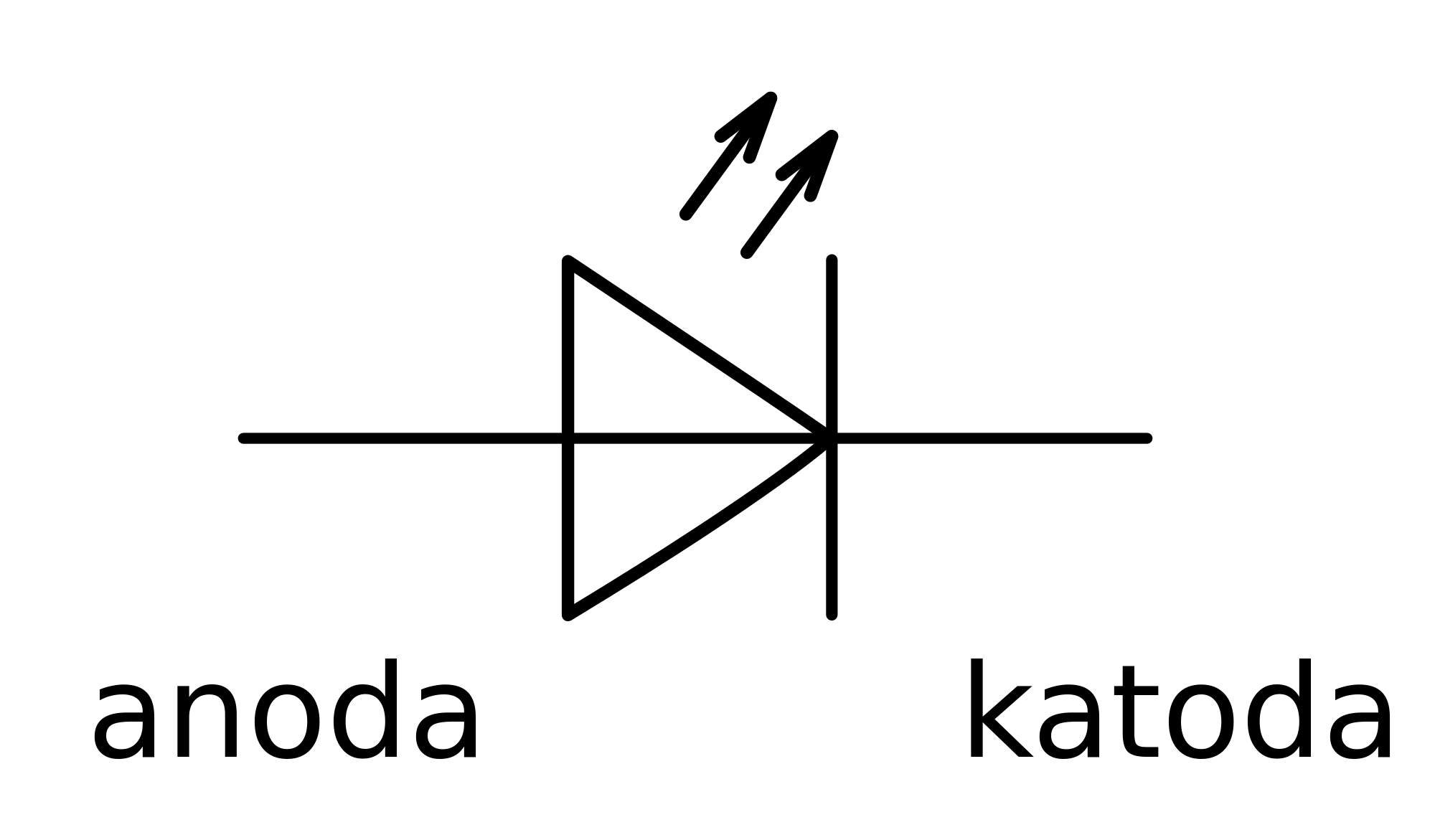 circuit symbol for light emitting diode