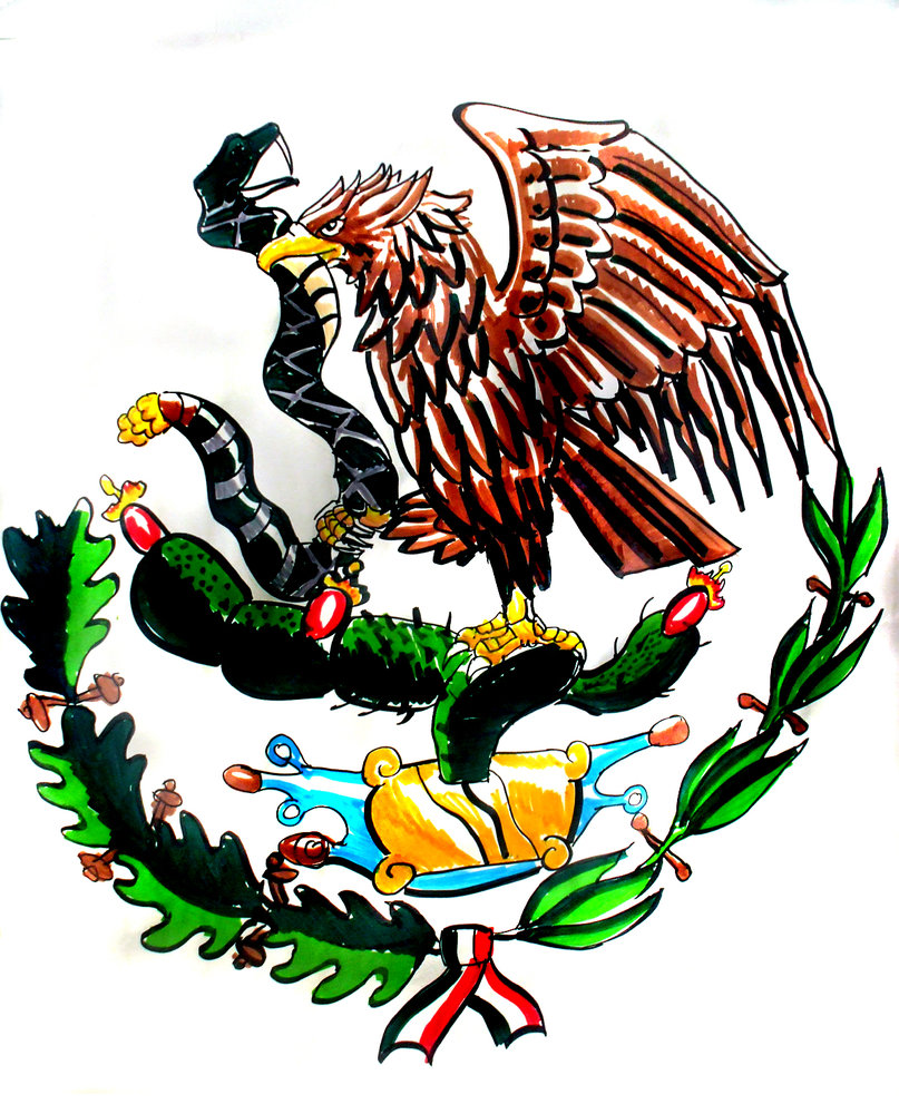 mexican flag symbol picture clipart best