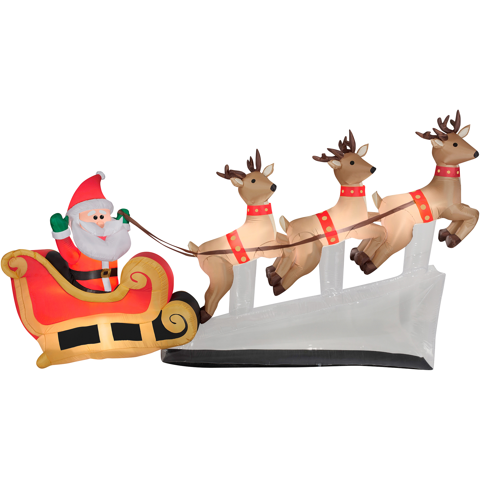 Home Depot Christmas Lawn Decorations Santa With Reindeer Clipart Best