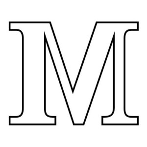 Bubble Letter M Coloring Page: Bubble Letter M Coloring Page ...