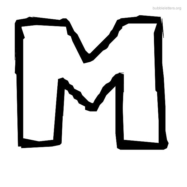 Bubble Letter M | russianbridesglobal