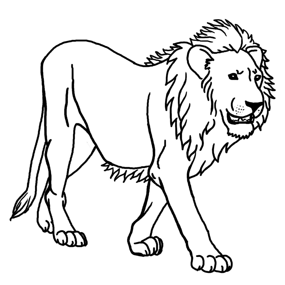 Black and white lion clip art - photo#20