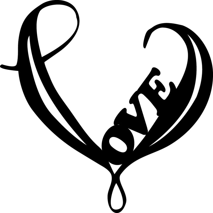 Love Heart Vector Graphics Vector Art & Graphics ... |Pencil Drawings Of Love Hearts